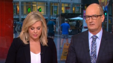 Channel Seven's <i>Sunrise</i> is hosted by David Koch and Samantha Armytage.