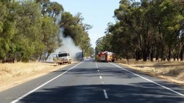 The Forrest Highway was closed on Tuesday afternoon due to a truck fire.