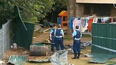 Crash scene where toddler Tahlia Tauaifaga was killed