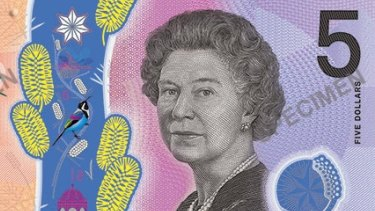By royal appointment, our new $5 bill.