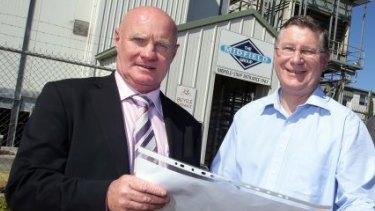 Midfield Group managing director Colin McKenna with Premier Denis Napthine.