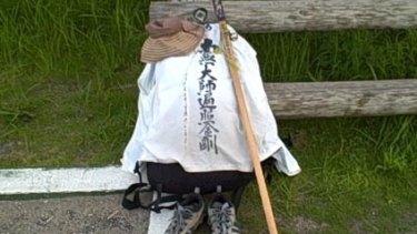 Lisa Dempster's gear for her Shikoku pilgrimage.
