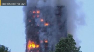 London fire as broadcast by the BBC.