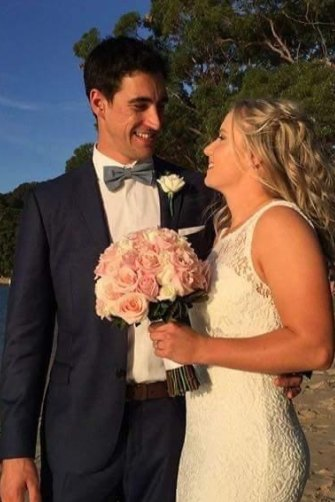 "The happy couple during their 2016 wedding. Healy says it's still one of the best parties she's ever been to: ""I reckon 50 people were still partying at 3am."""