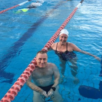 Masters champion Sandra Rogers, of Wentworth Point, is keen to plunge back into the pool soon.