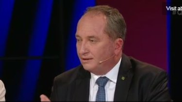 Deputy PM Barnaby Joyce on Monday night's program.