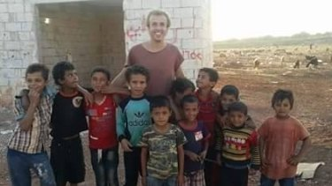 Oliver Bridgeman in Syria, in a photo posted to his Facebook page in September.
