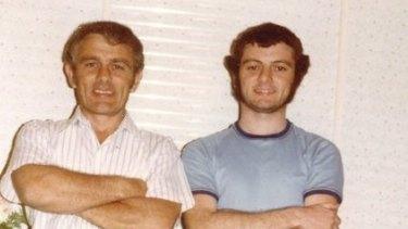 John Green and his son, Antony.