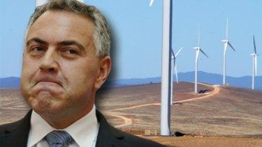 "Former treasurer Joe Hockey described wind turbines near Lake George as ""utterly offensive""."