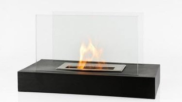 An example of a portable decorative ethanol burner.