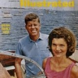 Jacqueline and John F. Kennedy on the cover of Sports Illustrated magazine in 1960.