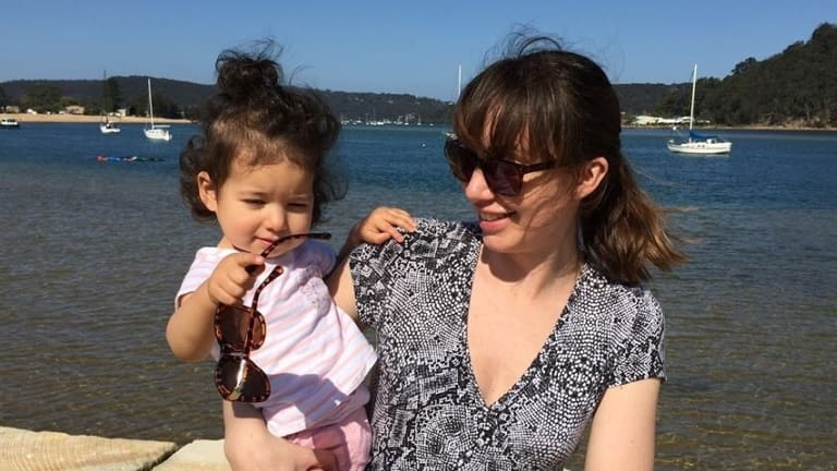 Elizabeth Pickworth, with her daughter, 19-month-old Lindy.