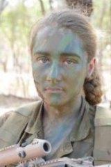 Soldier Natasha Rowley.