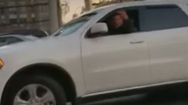 Man berating a Muslim driver in New York City.