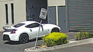 The white Nissan seen outside the Nunawading factory where the drugs were being stored.