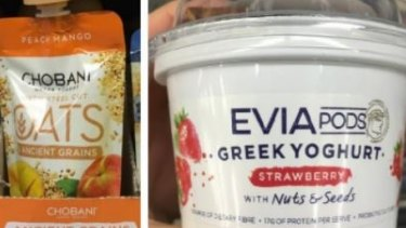 Evia Pods yoghurt and Chobani yoghurt with steel oats and ancient grains were deemed healthier on-the-go options.