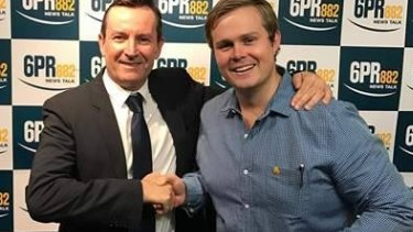 Oliver Peterson, with Premier Mark McGowan, has also proved a hit with listeners.