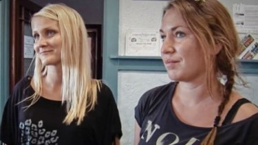 Lina and Stephie, the two Finnish backpackers followed in <i>Hotel Coolgardie</I>.