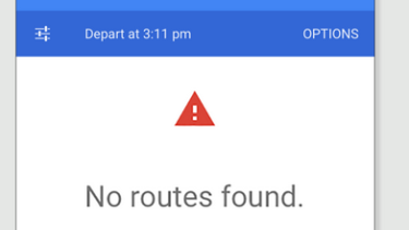 Google Maps: No routes found