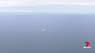 The Norwegian Star, drifting in the middle of the ocean.