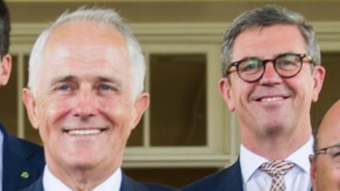 Prime Minister Malcolm Turnbull and Dr David Gillespie.