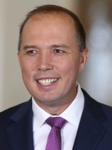 Immigration Minister Peter Dutton is under fire for the slow processing of Syrian refugees.