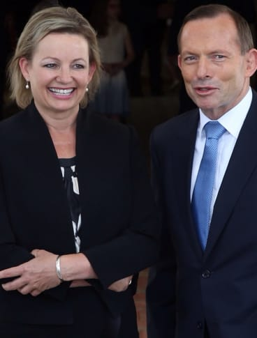 Sussan Ley with Prime Minister Tony Abbott.