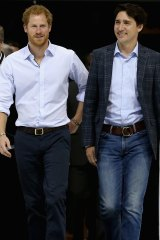Prince Harry with Canadian Prime Minister Justin Trudeau.
