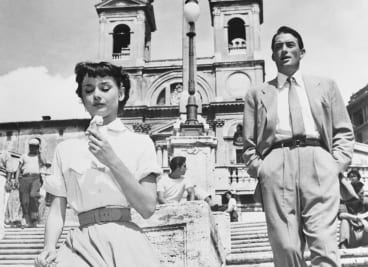 Roman Holiday, directed and produced by William Wyler in 1953, starring Gregory Peck and Audrey Hepburn.