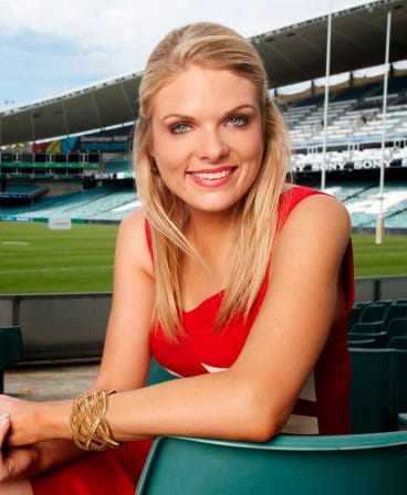 Channel Nine reporter and Footy Show panellist Erin Molan.