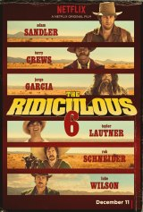 Poster for Adam Sandler's western comedy <i>The Ridiculous 6</i>.