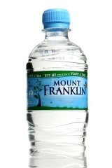 Woolies and Coles don't want to give shelf space to the full range of Mount Franklin water.