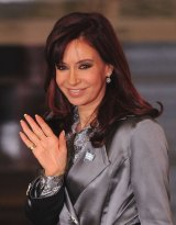 Outgoing Argentinian president Christina Fernandez de Kirchner.