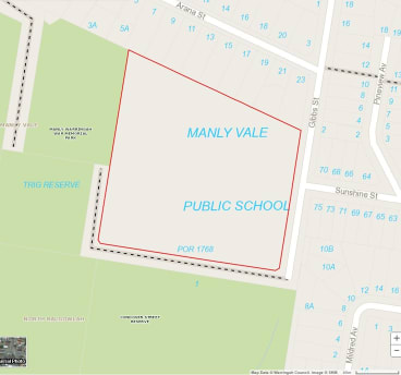 The site proposed for development in Manly Vale.