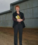Susan McLaine runs a book program in a Victorian prison. Picture by JOE ARMAO