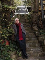 Peter McIntyre beneath his landmark Butterfly House.