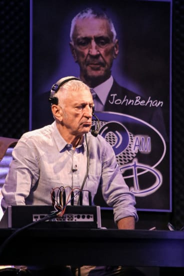 John Waters as talkback radio presenter John Behan in Talk.