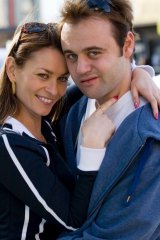 <i>Underbelly</i>: Kat Stewart and Gyton Grantley as Roberta and Carl Williams.