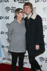 Josh Thomas with his mother Rebecca at a screening of Please Like Me in New York last year.