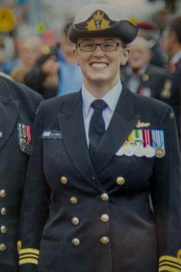 Kelly Walter in uniform.