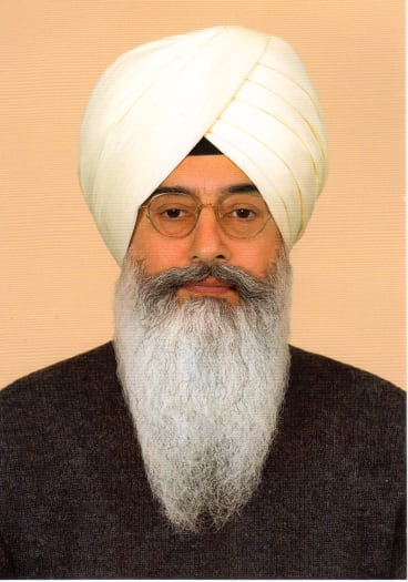 Baba Gurinder Singh, leader of the group Radha Soami Satsang Beas as pictured on the group's website.