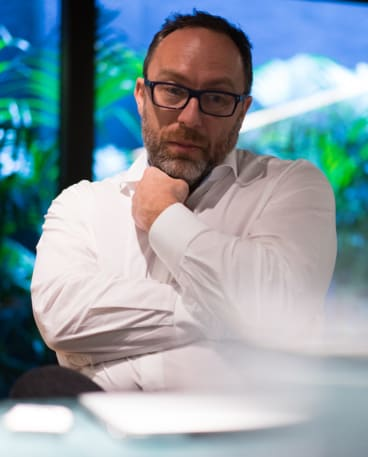 Co-founder of Wikipedia: Jimmy Wales.