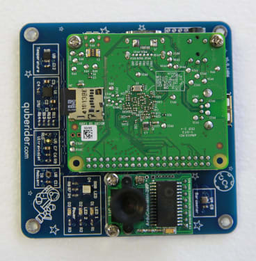 The SAGAN integrated sensor board travelling to the International Space Station.