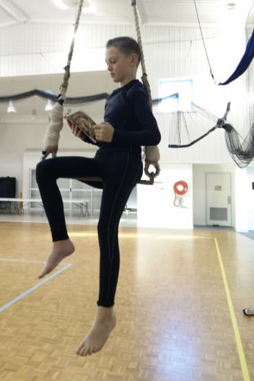 Circus therapy... Jaron Dalton, 10.
