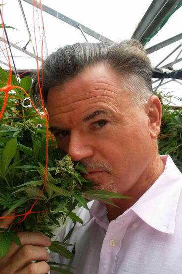 Phytotech founder Ross Smith in Israel with medical marijuana.