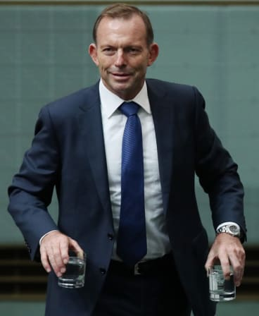 """Tony Abbott said his famous dedication to exercise was partly so that he could """"eat and drink, occasionally to excess""""."""