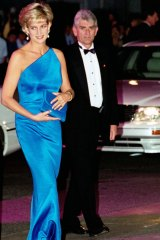Diana at the Victor Chang Cardiac Research Institute dinner-dance at the Sydney Entertainment Centre, 1996.