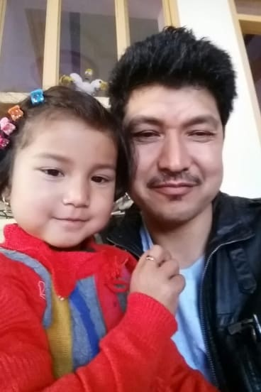 Qurban Ali with daughter Mahreen.