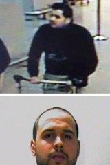 Ibrahim el-Bakraoui before attacks at Belgium's Zaventem Airport and Khalid el-Bakraoui (below).