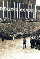 The 1936 Olympics opening ceremony in Berlin.
